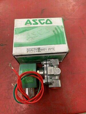 New In Box Asco 110120v. 12 Solenoid Valve 8215g020