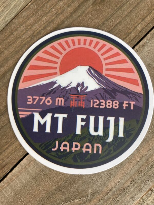 Mt Fuji Japan  Waterproof Sticker Decal Appx 2-3 Inches (E284)