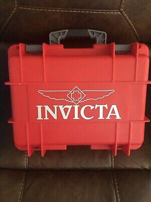 Invicta IG0098-RLC8S-Y 8 Slot Red Plastic Watch Box Case
