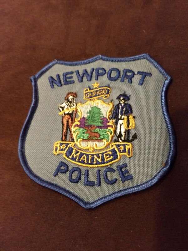Vintage Newport ME Police Patch - New