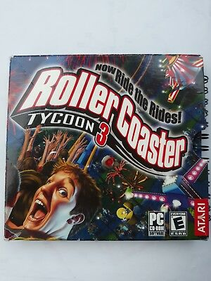 2004 Atari Roller Coaster Tycoon 3 Computer Game - For Windows 98/Me/2000/XP (Atari Roller Coaster Tycoon 3)