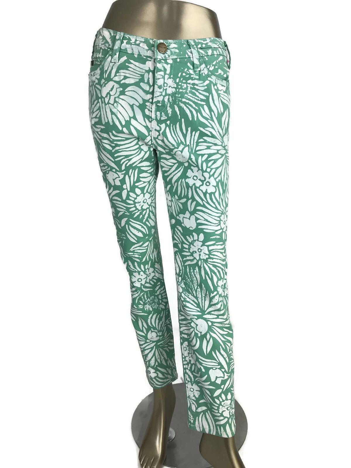 DVF For Current Elliott Jeans Mint Green White Pri