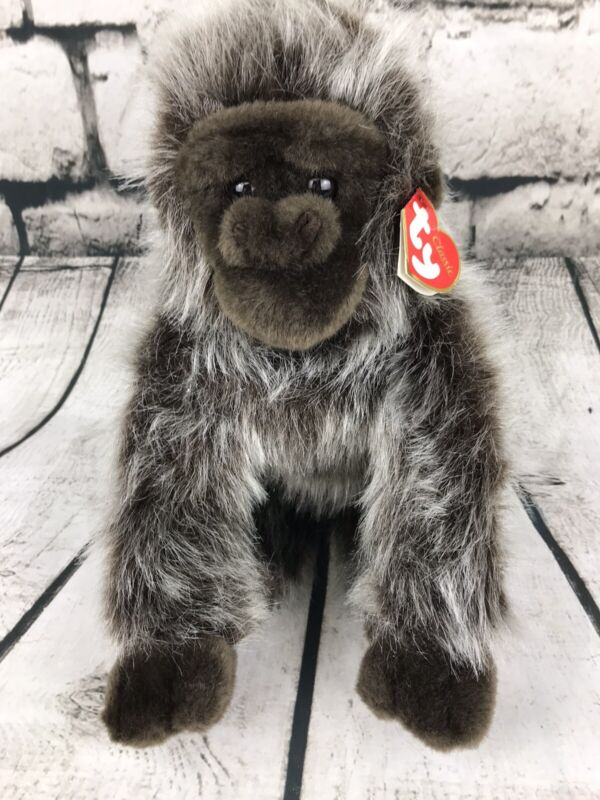 "TY Classics RUMBLES The Silverback Gorilla 2002 ~ 10"" Plush Stuffed Animal NWT"