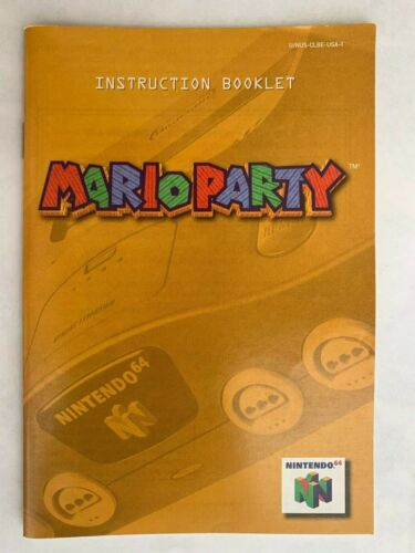 Mario Party Instruction Booklet Manual for Nintendo 64 N64