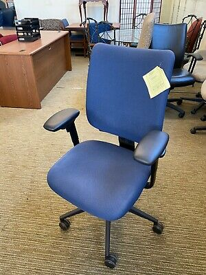 Chair W Casters By Steelcase Turnstone Crew In Blue Color
