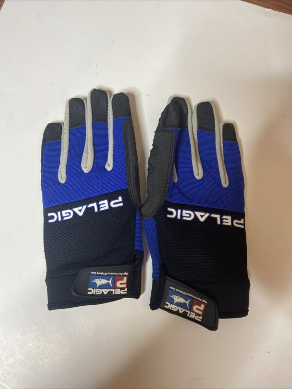 Pelagic High Performance Off Shore Gear Battle Full Hand Glove Size M/L 🔥👀
