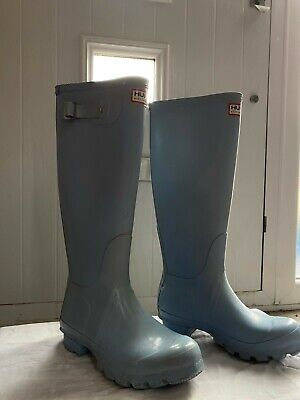 Hunters Tall Wellingtons Size 3 Boat Blue Used