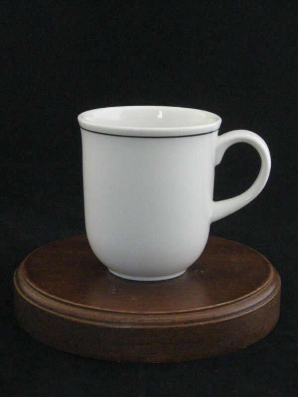 Royal Doulton Fine Porcelain White & Black Stripe Mug