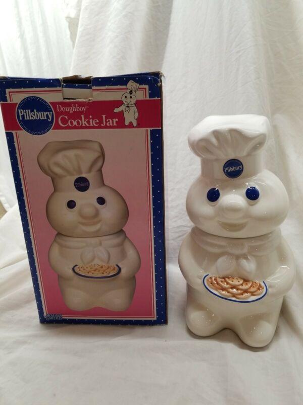 "Vintage 1998 Benjamin & Medwin Ceramic Pillsbury Doughboy Cookie Jar ~12"""