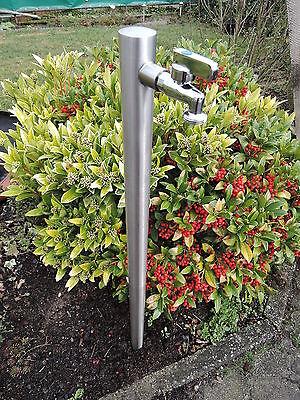 Wasserzapfstelle Edelstahl Wasserzapfsäule 85cm Wasserverteiler Brunnen WS4285