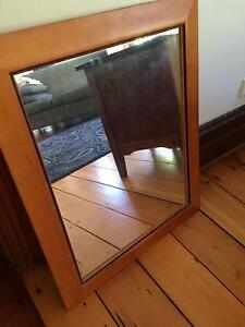 Mirror with wooden surround Dulwich Hill Marrickville Area Preview
