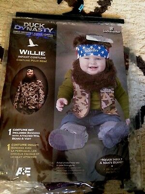 Duck Dynasty Baby Boy's Willie Costume Camouflage Small (6-12 Months) - NEW
