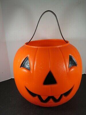 VTG Halloween Empire Blow Mold Pumpkin Trick Treat Candy Bucket Pail B805