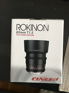 Rokinon 85mm T1.5 Cine DS lens for Canon EF mount - BRAND NEW