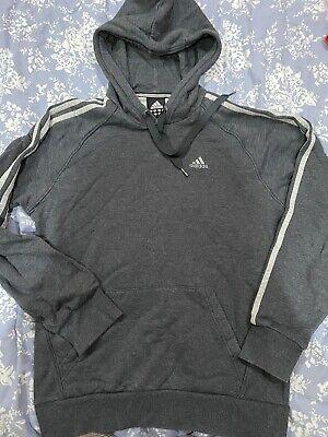 Grey Adidas Sweatshirt Hoody S Small