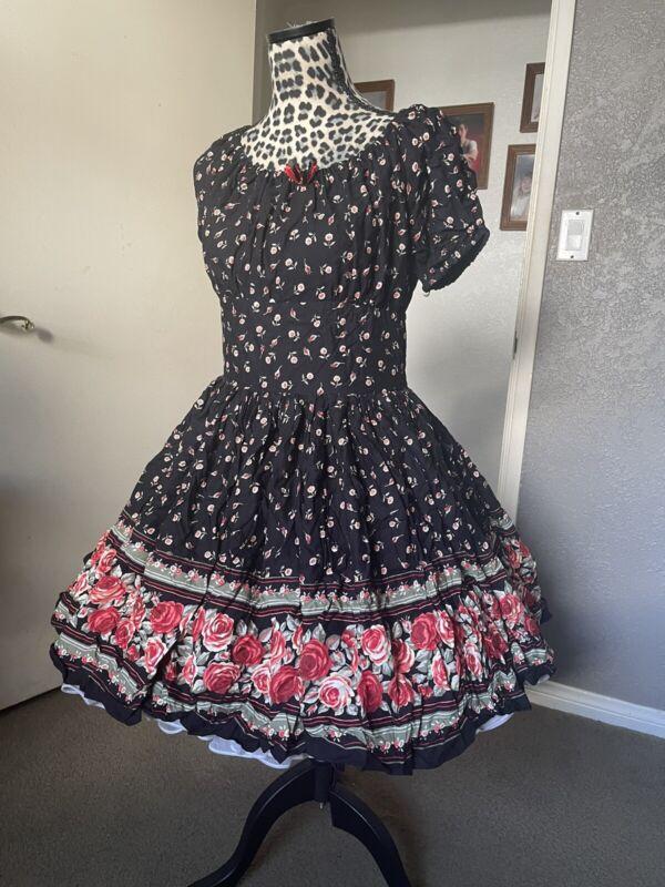 Rose Square Dancing Dress