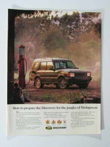 """1994 Land Rover Discovery Gas Pump Jungle Madagascar Original Print Ad 8.5 x 11"""""""
