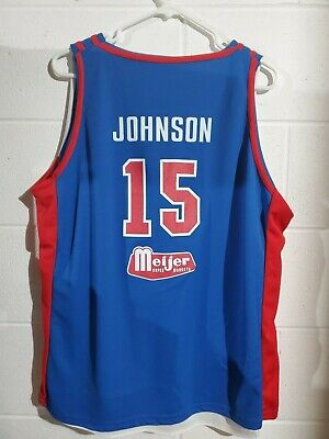 NBA Basketball Detroit Pistons Vinnie Johnson Tayshaun Prince Reversible Jersey