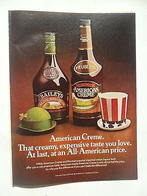 1982 Print Ad Baileys Irish Cream Liqueur ~ American Creme That You Love