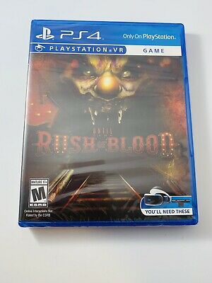PS4 Until Dawn: Rush of Blood Sony PlayStation 4 VR 2016 HORROR Brand New Sealed