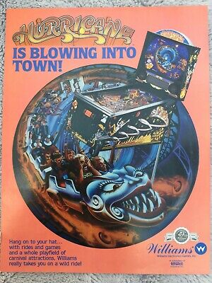 Hurricane pinball Machine flyer