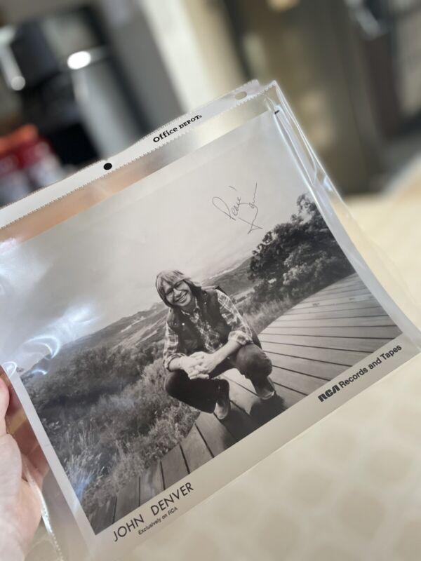 John Denver signed photo