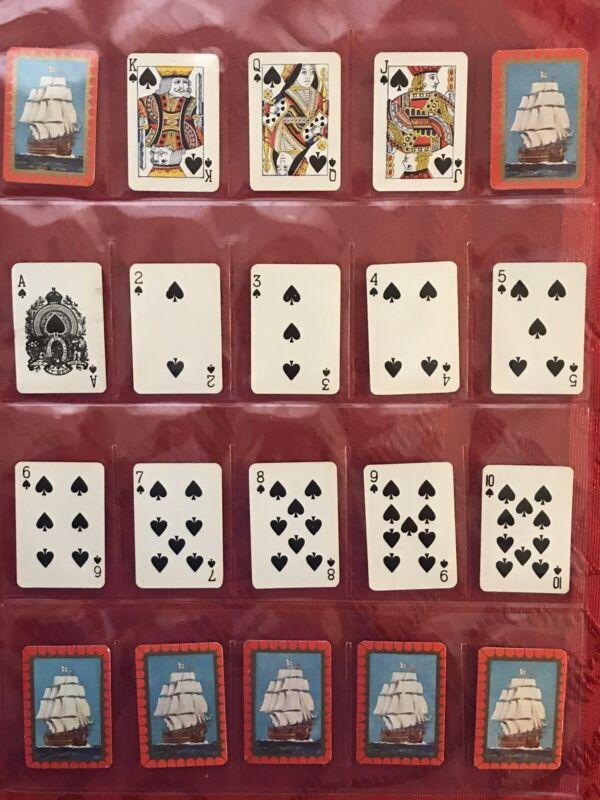 1938 J. WIX & SONS FULL 53 CARD DECK-SET W/JOKER-MINIATURE PLAYING CARDS-EX-WOW
