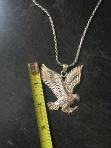 Sterling Silver Chain and Eagle