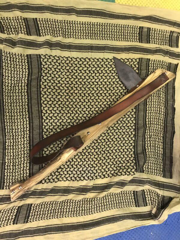 Indian Gunstock War Tomahawk & Plug Bayonet Knife Lot
