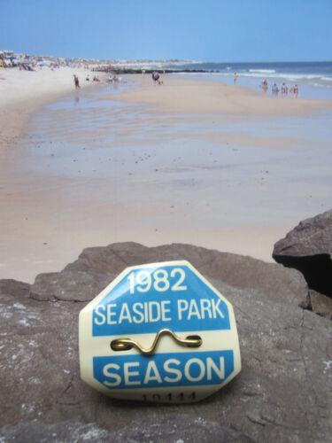 1982  SEASIDE  PARK  N J  SEASONAL BEACH  BADGE/TAG    39  YEARS  OLD