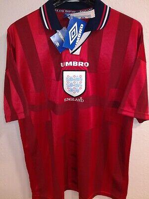 ENGLAND 1998 WC BNWT camiseta shirt trikot maillot maglia umbro