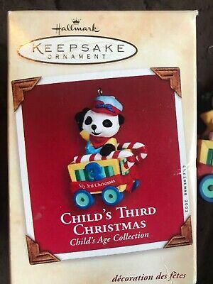 Hallmark Keepsake Ornament Child's Third 3rd Christmas 2002 RARE Vintage