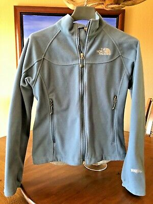 The North Face Windwall Blue Softshell Fleece Jacket Size Medium Full Zip M
