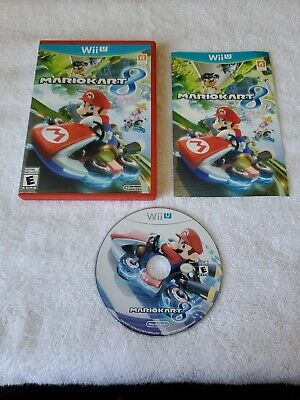 Mario Kart 8 (Nintendo Wii U, 2014) Complete with Manual & Case