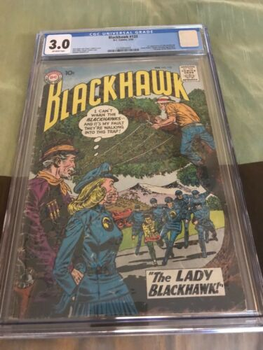Blackhawk 133 CGC 3.0 First Appearance Lady Blackhawk - KEY ISSUE