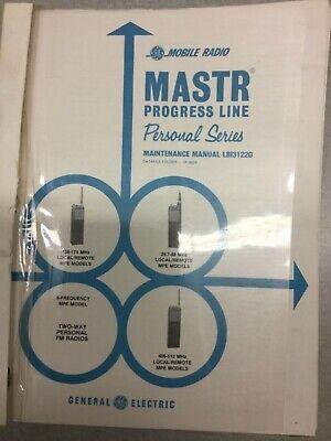 Vintage Ge Mastr Progress Mpe Personal Portable Vhf 5 Watts Service Manual Ham