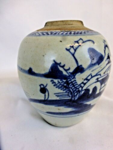 Excellent antique chinese blue and white vase