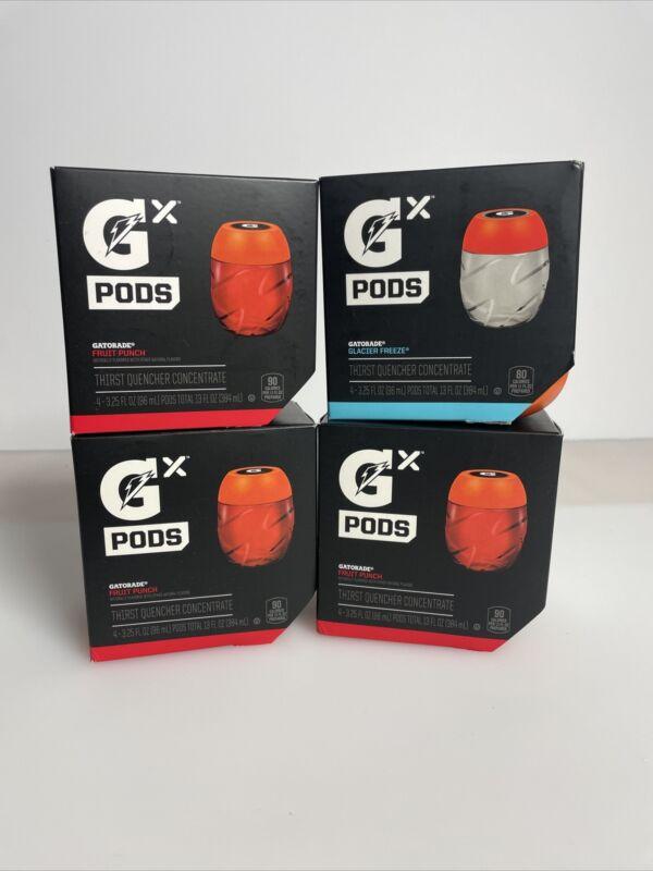 Gatorade GX G2 Glacier Freeze Fruit Punch Pods 16 Pieces 4 Boxes