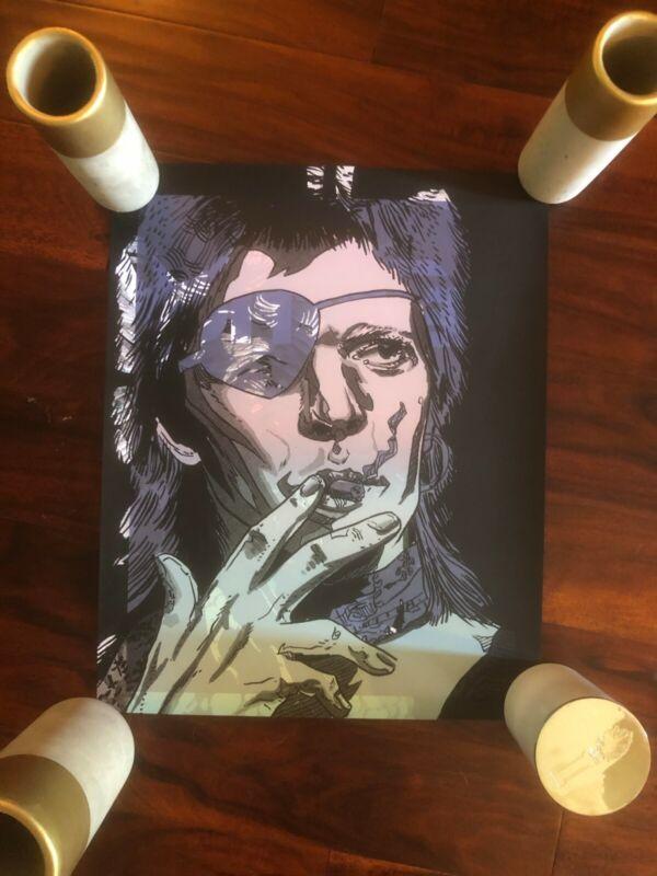 David Bowie Art Print, Unique test print poster, one of a kind - Tim Doyle 20x16