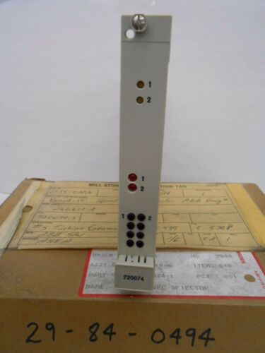 ABB STAL 720074-1 SPEED LEVEL DETECTOR CARD PCB CIRCUIT BOARD MODULE