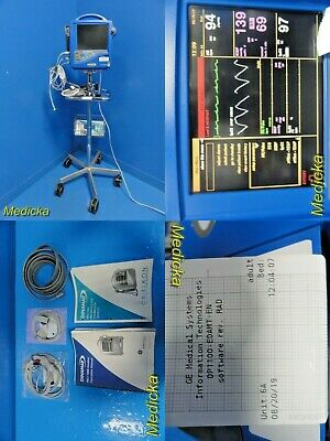 Ge Dinamap Pro 1000 Dp1100 Patient Monitor W Leads Masimo Spo2 Manuals 18749