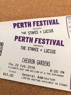The Staves & Lucius - Chevron Gardens 22/02/18