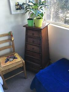 Wooden drawers - tall boy Wollstonecraft North Sydney Area Preview