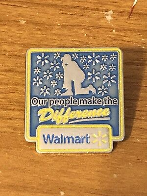 Rare Walmart Lapel Pin Mr. Sam Our People Make the Difference Wal-mart Pinback