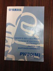 Yamaha PeeWee 80 PW80 Factory Workshop Manual Blacktown Blacktown Area Preview