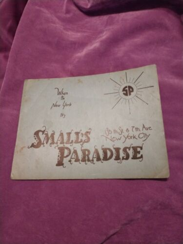 SMALLS PARADISE NYC / Iconic African American Harlem Night Club! Photo! Scarce.