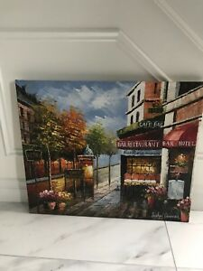 Cafe Oil Painting