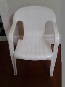 Six White garden chairs Burwood Burwood Area Preview