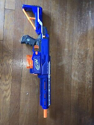 Nerf N-Strike Blue Retaliator Blaster Dart Gun With 6 Dart Clip