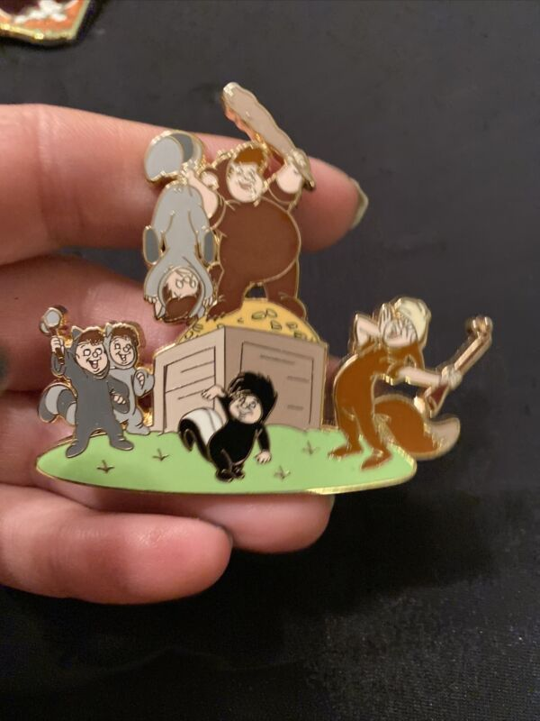 Disney Shopping Le100 Pin Peter Pan Lost Boys Cubby Tootles Nibs Twins